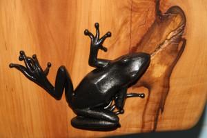 Frosch-Metall-Türgriff-Skulpturen